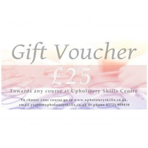 Upholstery Classes Gift Voucher